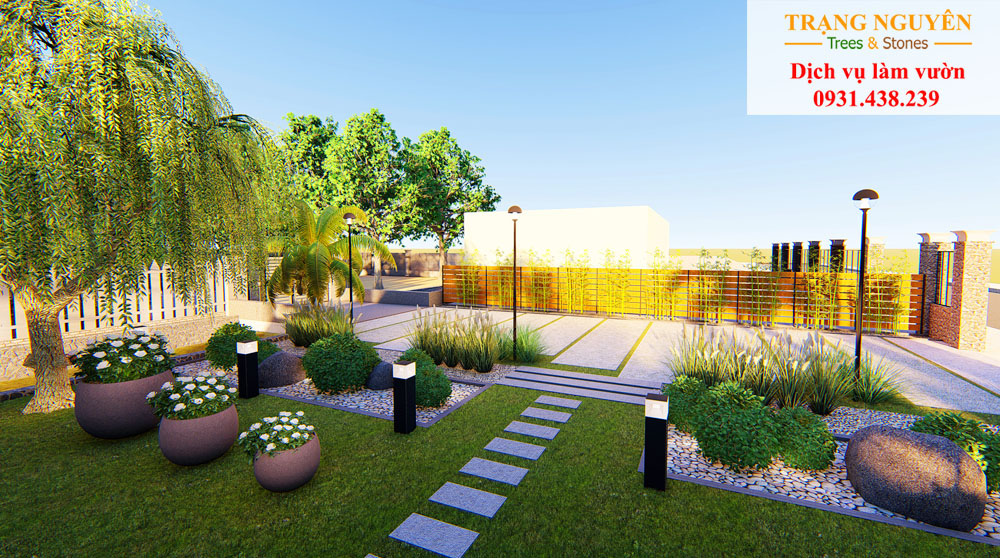 Thiết kế sân vườn đẹp đẳng cấp