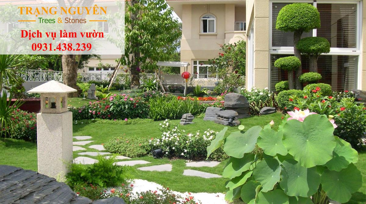 Trồng cây trang trí vườn đẹp