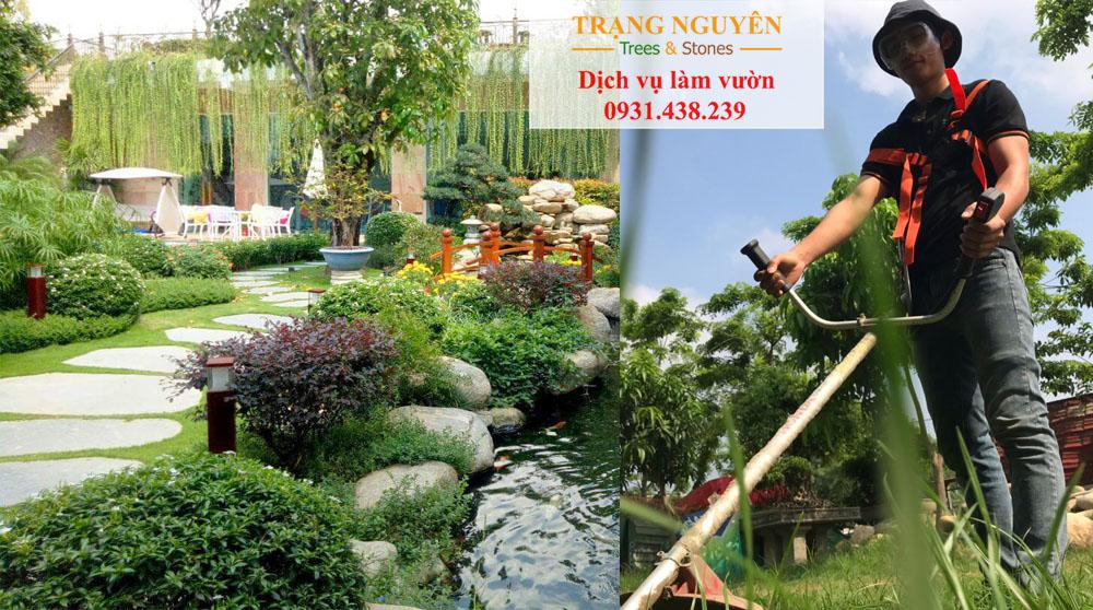 Chăm sóc sân vườn tại hóc môn