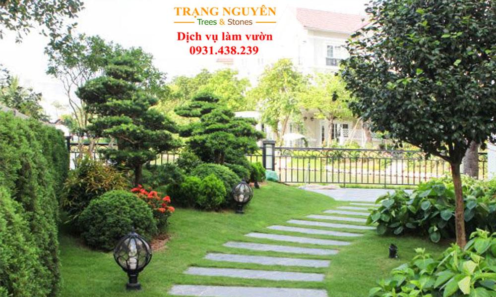 Trồng cây sân vườn tại long an