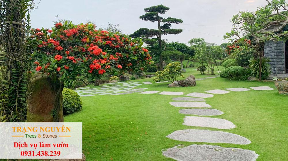 Sân vườn củ chi đẹp