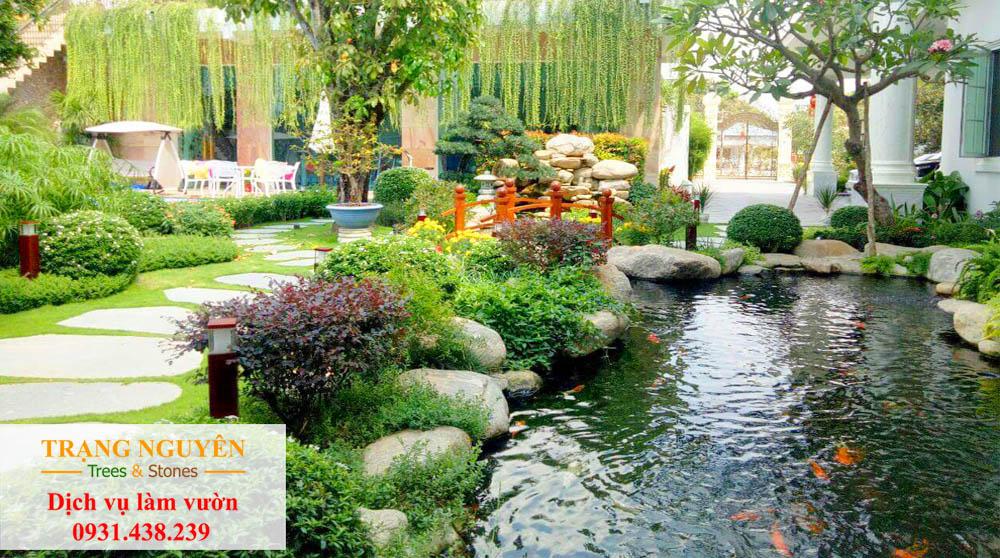 Thi công sân vườn Bình Phước